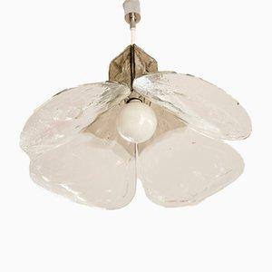 Lampada da soffitto in vetro di Murano di Carlo Nason per Mazzeaga, Italia, anni '70