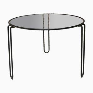 Black Enamelled Meta & Glass Coffee table by Paolo Piva for B&B Italia, 1970s