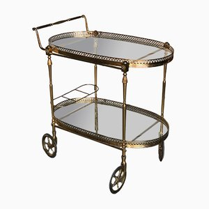Mid-Century French Brass Trolley Cart, 1950s