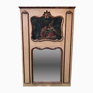 Antique Louis XV Style Mirror with Painting