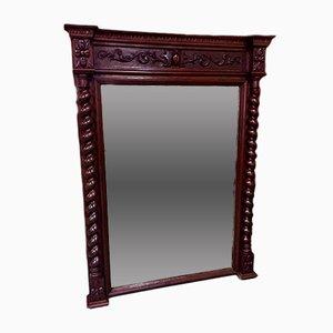 Vintage Henry II Style Oak Mirror