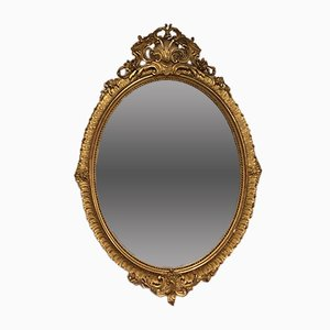 Miroir Style Louis XV Antique Ovale