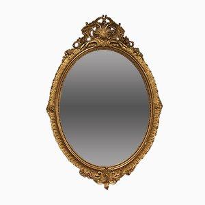 Ovaler antiker Louis XV Spiegel