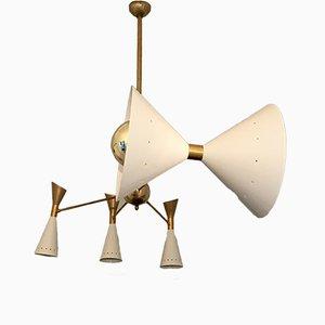 Asymmetrische italienische Mid-Century Deckenlampe von Stilnovo, 1950er