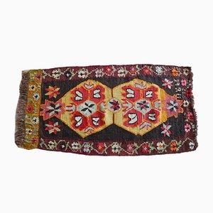 Alfombra kilim turca pequeña, años 70
