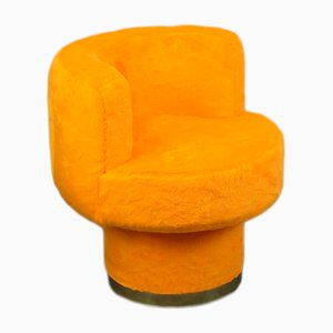 Vintage Plush Chairs, 1970s, Set of 2