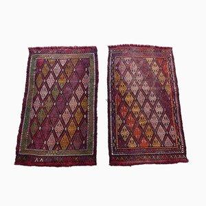 Kleine pastellfarbene türkische Teppiche, 1970er, 2er Set