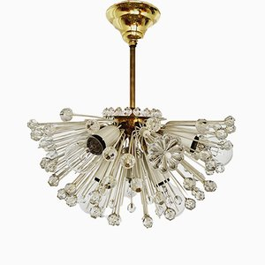 Austrian Snowflake Pendant Lamp by Emil Stejnar for Rupert Nikoll, 1950s