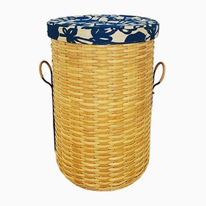 Swedish Woven Laundry Basket, 1950s