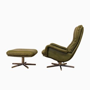 Sedia girevole S23 in alluminio e pelle di de Sede, anni '60