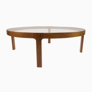 Large Mid-Century Danish Oak Coffee Table, 1960s