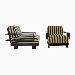 Vintage Armlehnstühle im Art Déco-Stil, 2er Set