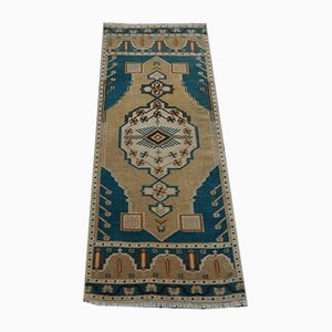 Vintage Blue Turkish Rug, 1970s