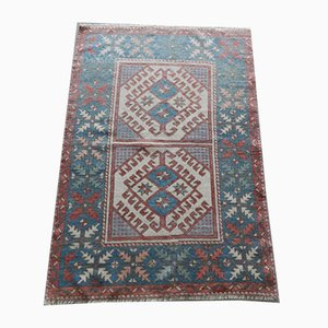 Low Pile Oushak Yastik Hand Knotted Rug, 1970s