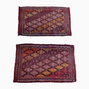 Turkish Wool Oushak Cicim Doormats, 1970s, Set of 2
