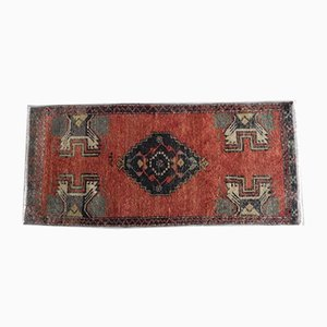 Small Hand-Knotted Low Pile Oushak Rug, 1970s