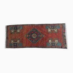 Kleiner kurdischer Teppich mit niedrigem Flor, 1970er