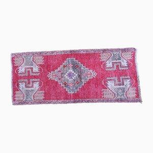 Alfombra de recibidor turca pequeña de lana, años 70