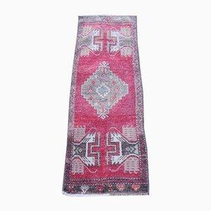Alfombra turca tejida a mano de lana, años 70
