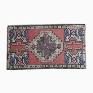 Small Turkish Low Pile Yastik Rug, 1970s