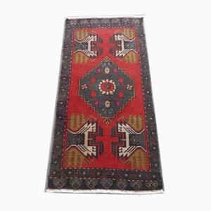 Vintage Oushak Yastik Teppich mit niedrigem Flor, 1970er