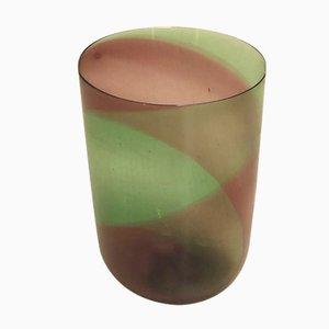 Vaso grande vintage in vetro soffiato di Venini