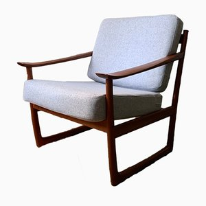 Danish Teak FD 130 Lounge Chair by Peter Hvidt & Orla Mølgaard-Nielsen for France & Søn / France & Daverkosen, 1960s