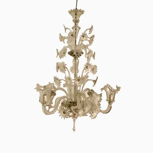 Vintage Murano Glass Chandelier, 1940s