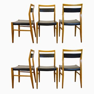 Esszimmerstühle, 1950er, 6er Set