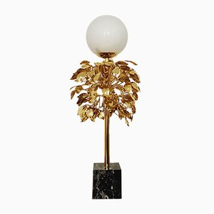 Hollywood Regency Gilded Table Lamp by Sergio Terzani, 1970s