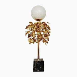 Vergoldete Hollywood Regency Tischlampe von Sergio Terzani, 1970er