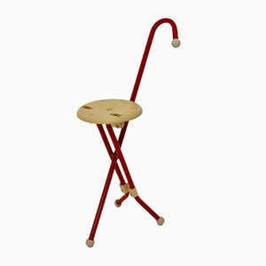 Modernist Walking Stick with Seat by Ivan Loss for Schienalino, 1981