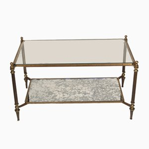 Mirror Bronze Coffee Table from Maison Jansen, 1950s