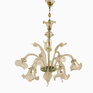 Vintage Large Murano Glass Chandelier, 1960s