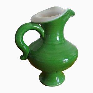 Free Form Glazed Ceramic Pitcher Vase by Pol Chambost, 1950s