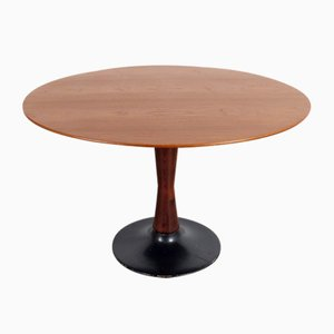 Vintage Round Dining Table, 1960s