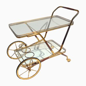 Lacquered Bar Serving Cart by Cesare Lacca, 1950s