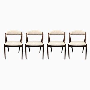 Chaises de Salon Mid-Century en Palissandre et Palissandre par Kai Kristiansen pour Schou Andersen, Danemark, 1960s, Set de 4