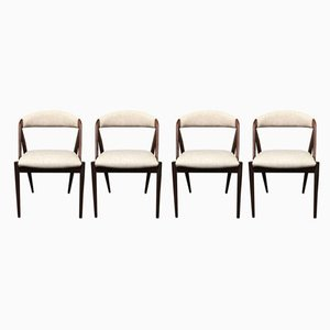 Mid-Century Danish Rosewood & Palisander Dining Chairs by Kai Kristiansen for Schou Andersen, 1960s, Set of 4