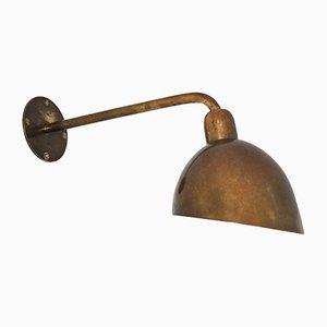 Lámpara de pared danesa vintage de latón