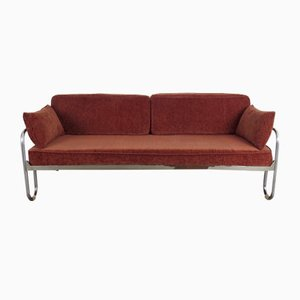 Vintage Sofa mit Gestell aus Stahlrohr, 1930er