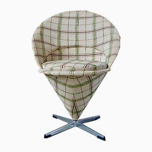 Silla Cone vintage de Verner Panton para Plus-Linje, años 50