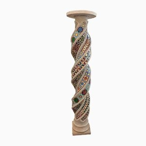 Antique Mosaic Marble Column