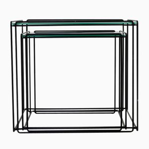 Black Wire Nesting Tables by Max Sauze, 1970s
