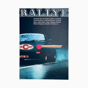 Vintage Rallye Filmposter von Karel Vaca, 1980er