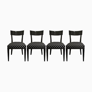 Art Deco H-233 Chairs by Jindrich Halabala, 1930s, Set of 4