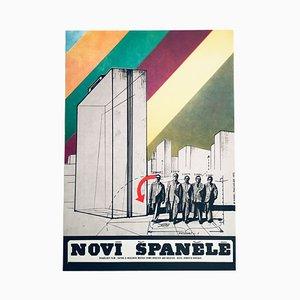 Vintage The New Spaniards Movie Poster by Karel Machálek, 1975