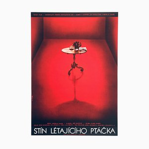 Shadow of a Flying Bird Movie Poster by Olga Poláčková-Vyleťalová, 1977