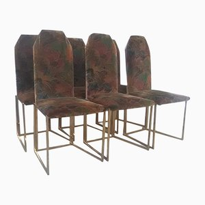 Vintage Gold Metal Chairs, Set of 6