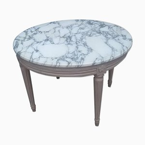 Round Vintage Marble Coffee Table